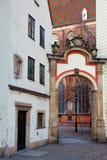 Προσόψεις των παλαιών σπιτιών σε Wroclaw, Πολωνία Στοκ Φωτογραφίες