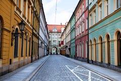 Προσόψεις των παλαιών σπιτιών σε Wroclaw, Πολωνία Στοκ εικόνα με δικαίωμα ελεύθερης χρήσης