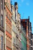 Προσόψεις των παλαιών σπιτιών σε Wroclaw, Πολωνία Στοκ Εικόνες