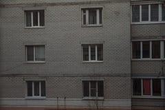 Προσόψεις των σπιτιών Στοκ εικόνα με δικαίωμα ελεύθερης χρήσης