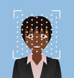 Προσδιορισμός Biometrical Αναγνώριση προσώπου Στοκ φωτογραφίες με δικαίωμα ελεύθερης χρήσης