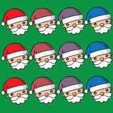 Προτάσεις Santa που τίθενται για τα Χριστούγεννα ελεύθερη απεικόνιση δικαιώματος