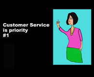 Προτεραιότητα εξυπηρέτησης πελατών #1 διανυσματική απεικόνιση