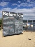 Προτού να πεθάνω σημάδι Στοκ Εικόνες