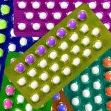 Προφορικά αντισυλληπτικά χάπια. Στοκ εικόνα με δικαίωμα ελεύθερης χρήσης