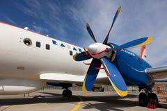 Προωστήρας των αεροσκαφών RadarNPP Ilyushin IL-114 Στοκ εικόνες με δικαίωμα ελεύθερης χρήσης