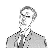 0 προϊστάμενος Ενοχλημένος πολιτικός angry man άτομο λυπημένο Μιλώντας πολιτικός Σιχασιάρες άτομο Απεικόνιση αποθεμάτων