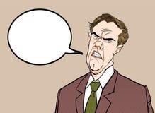0 προϊστάμενος Ενοχλημένος πολιτικός angry man άτομο λυπημένο Μιλώντας πολιτικός Σιχασιάρες άτομο Στοκ Εικόνα