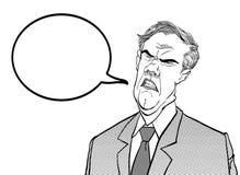 0 προϊστάμενος Ενοχλημένος πολιτικός angry man άτομο λυπημένο Μιλώντας πολιτικός Σιχασιάρες άτομο Στοκ φωτογραφία με δικαίωμα ελεύθερης χρήσης