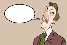 0 προϊστάμενος Ενοχλημένος πολιτικός angry man Διανυσματική απεικόνιση πολιτικών ομιλίας Ελεύθερη απεικόνιση δικαιώματος