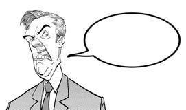 0 προϊστάμενος Ενοχλημένος πολιτικός angry man Κακή συγκίνηση Στοκ φωτογραφία με δικαίωμα ελεύθερης χρήσης