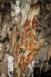 Προϊστορικά petroglyph έργα ζωγραφικής βράχου σε Raja Ampat, δυτική Παπούα, Ινδονησία Στοκ φωτογραφία με δικαίωμα ελεύθερης χρήσης