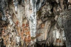 Προϊστορικά petroglyph έργα ζωγραφικής βράχου σε Raja Ampat, δυτική Παπούα, Ινδονησία Στοκ Φωτογραφία