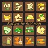 Προϊόντα για τη σπιτική του προσώπου μάσκα Στοκ Φωτογραφία