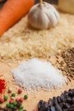 Προϊόντα για το μαγείρεμα pilaf Στοκ Εικόνες