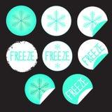 Προϊόντα ετικετών αυτοκόλλητων ετικεττών με snowflake στοκ εικόνα με δικαίωμα ελεύθερης χρήσης