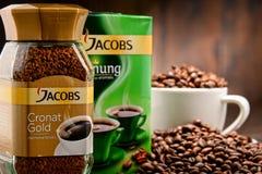 Προϊόντα καφέ Jacobs Douwe Egberts Στοκ εικόνες με δικαίωμα ελεύθερης χρήσης