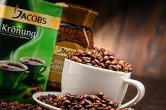 Προϊόντα καφέ Jacobs Douwe Egberts Στοκ Φωτογραφία