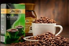 Προϊόντα καφέ Jacobs Douwe Egberts Στοκ Εικόνες