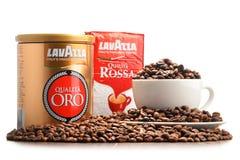 Προϊόντα καφέ Lavazza που απομονώνεται στο λευκό Στοκ φωτογραφία με δικαίωμα ελεύθερης χρήσης