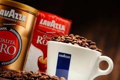 Προϊόντα καφέ Lavazza Στοκ εικόνα με δικαίωμα ελεύθερης χρήσης