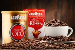 Προϊόντα καφέ Lavazza Στοκ φωτογραφία με δικαίωμα ελεύθερης χρήσης