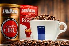 Προϊόντα καφέ Lavazza Στοκ Φωτογραφίες