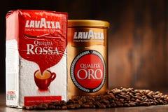 Προϊόντα καφέ Lavazza Στοκ Εικόνες
