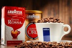 Προϊόντα καφέ Lavazza Στοκ Φωτογραφία
