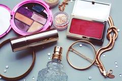 Προϊόντα καλλυντικών Makeup Στοκ εικόνα με δικαίωμα ελεύθερης χρήσης