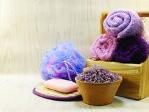 Προϊόντα λουτρών κρέμας σαπουνιών και ντους σαμπουάν Στοκ φωτογραφία με δικαίωμα ελεύθερης χρήσης