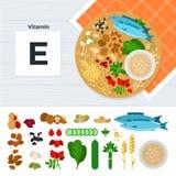 Προϊόντα με τη βιταμίνη Ε ελεύθερη απεικόνιση δικαιώματος