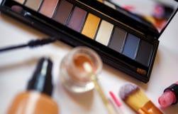 Προϊόντα ομορφιάς για την επαγγελματική σύνθεση Στοκ φωτογραφία με δικαίωμα ελεύθερης χρήσης