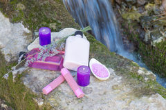 Προϊόντα ομορφιάς Στοκ φωτογραφία με δικαίωμα ελεύθερης χρήσης