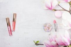 Προϊόντα ομορφιάς Makeup Στοκ Εικόνα