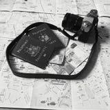 Προϊόντα πρώτης ανάγκης ταξιδιού στοκ εικόνες