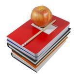 Προϊόντα πρώτης ανάγκης της Apple και σχολείων (με το ψαλίδισμα της πορείας) Στοκ Εικόνα