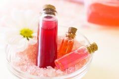 Προϊόντα πρώτης ανάγκης Aromatherapy καθορισμένα Στοκ Φωτογραφία