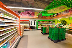 Προϊόντα στην υπεραγορά Στοκ φωτογραφία με δικαίωμα ελεύθερης χρήσης