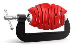 Προϋπολογισμός στο σφιγκτήρα (πορεία ψαλιδίσματος συμπεριλαμβανόμενη) Στοκ εικόνες με δικαίωμα ελεύθερης χρήσης