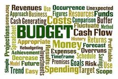 προϋπολογισμών Στοκ Εικόνα