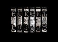 προϋπολογισμών Στοκ Φωτογραφίες