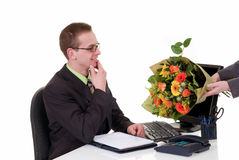προώθηση λουλουδιών γενεθλίων στοκ φωτογραφίες με δικαίωμα ελεύθερης χρήσης