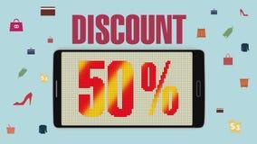 Προώθηση της πώλησης, έκπτωση 50%, αποτελεσματικός συναγερμός πώλησης version2 ελεύθερη απεικόνιση δικαιώματος