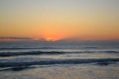 Πρωί ανατολής του Ατλαντικού Ωκεανού Στοκ Φωτογραφία