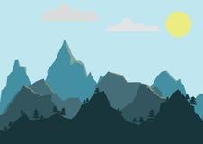 Πρωί βουνών Στοκ Εικόνες