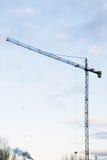 πρωί γερανών οικοδόμησης Στοκ φωτογραφία με δικαίωμα ελεύθερης χρήσης