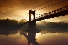 πρωί γεφυρών για πεζούς Στοκ εικόνα με δικαίωμα ελεύθερης χρήσης