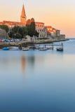 Πρωί θαλασσίως σε Porec, Κροατία Στοκ Εικόνες