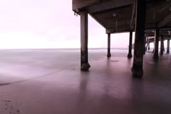 Πρωί καταιγίδας παραλιών Dania στοκ εικόνες